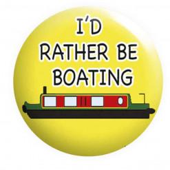 I'd rather be Boating Badge, Boating Badges, Narrowboat badge