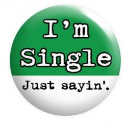 I'm Single Badge