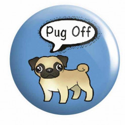 Pug Button Pin Badges