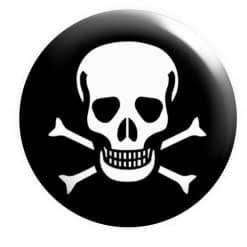 Skull Crossbones Badge, Pirate Badge,