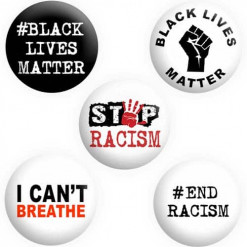 Black Lives Matter Badges, BLM Badges, Button Pin Badges
