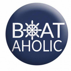 BoatAholic Badge Boating Button Pin Badges