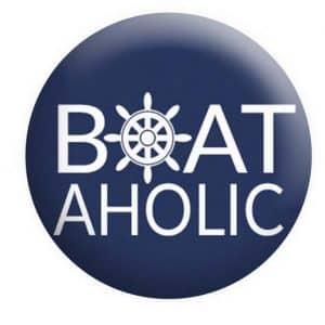 BoatAholic Badge Boating Button Pin Badges