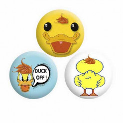 Duck Button Pin Badges