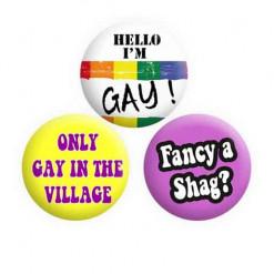 Gay Button Pin Badges