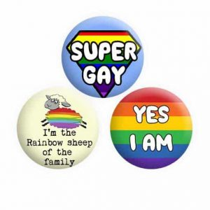 Gay Lesbian Button Pin Badges