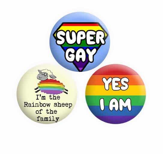 Gay Lesbian Button Pin Badges