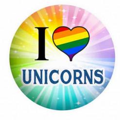 Unicorn Badges Rainbows