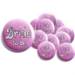 Hen Party Button Pin Badges