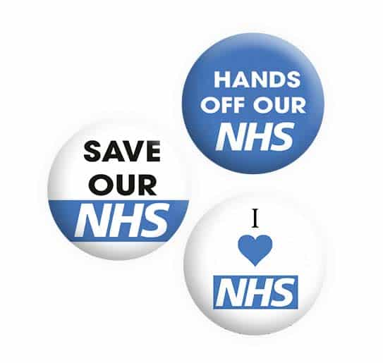 NHS Button Pin Badges