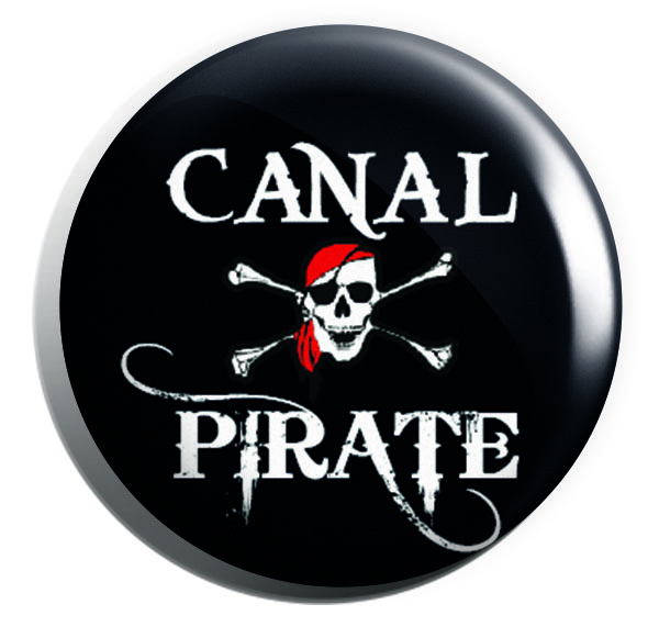 Canal Pirate Button Pin Badges