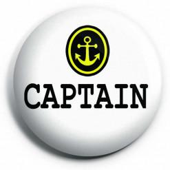 Captain Button Pin Badge
