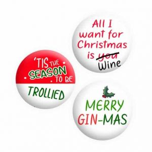 Adult Rude Christmas Button Pin Badges