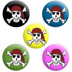 Pirate Badges, Kids Pirate Party Badges