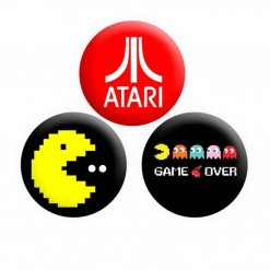 Gaming Pacman Button Pin Badges