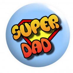 Super dad badge, dad badges