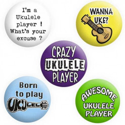 Ukulele Badges, Button pin badges
