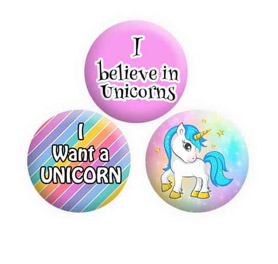 Unicorn Button Pin Badges