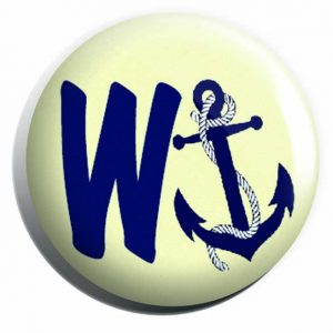 Wanchor, Nautical Button Pin Badges