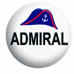 Admiral Button Pin Badge