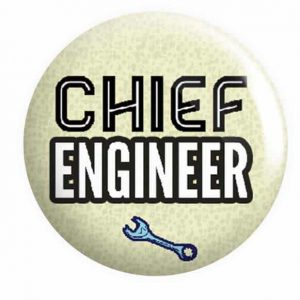 Chief Engineer Button Pin Badges