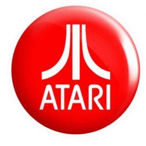 Atari Gaming Button Pin Badges