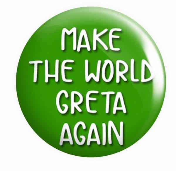 Grete Button Pin Badge