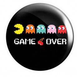 Pacman Button Pin Badges