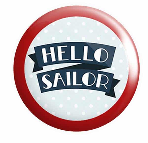 Nautical Button Pin Badges