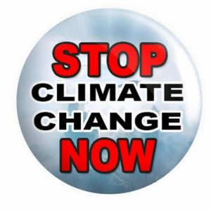 Climate Change Button Pin Badge
