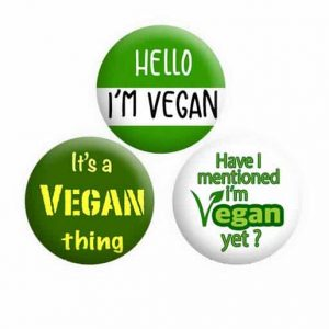 Vegan Button Pin Badges
