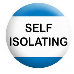 Self Isolating Badge Button Pin Badge