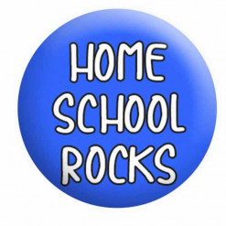 Home School Rocks Badge Button Pin Badge Badges