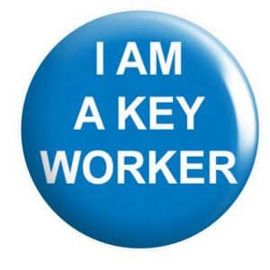 I am a Keyworker Badge Button Pin Badges