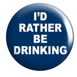 I'd rather be drinking badge Button Pin Badges