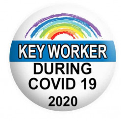 Covid 19 Badge Button Pin Badges