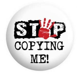 Stop Copying me Badge Button Pin Badge
