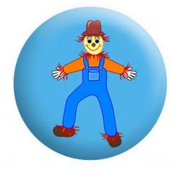 Scarecrow Badge Wizard of Oz Button Pin Badge