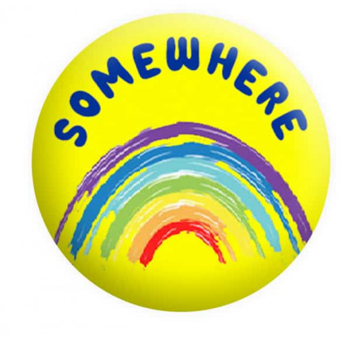 Somewhere over the rainbow Badge Button Pin Badges
