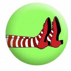 Wizard of Oz Red Slippers Badge Button Pin Badges