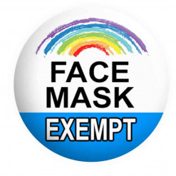 Face Mask Exempt Badges Button Pin Badges