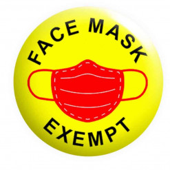 Face Mask Exempt Badge