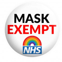 Face Mask Exempt Badge, NHS Badge, Button Pin Badges