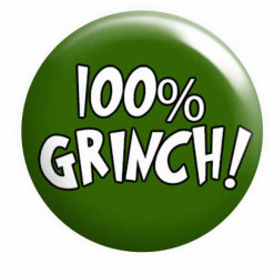 Grinch Christmas Badge