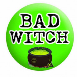 Halloween Badges, Bad witch badge