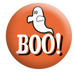 Halloween Badges, Boo Ghost Badge,