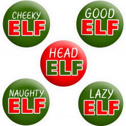 Elf Badges, Elf on shelf badges, Christmas Badges