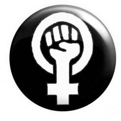 Feminist Fist Badge Black