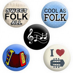 Folk Music Badges, Folk Badges