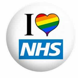 I Love NHS Badge Rainbow